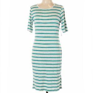 LULAROE Mid-Calf Scoop Neck Striped Dress